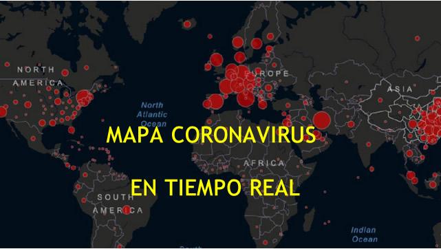 Mapa del Coronavirus en el mundo, en tiempo real
