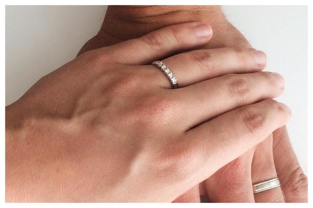 kihlasormus silvan timantti