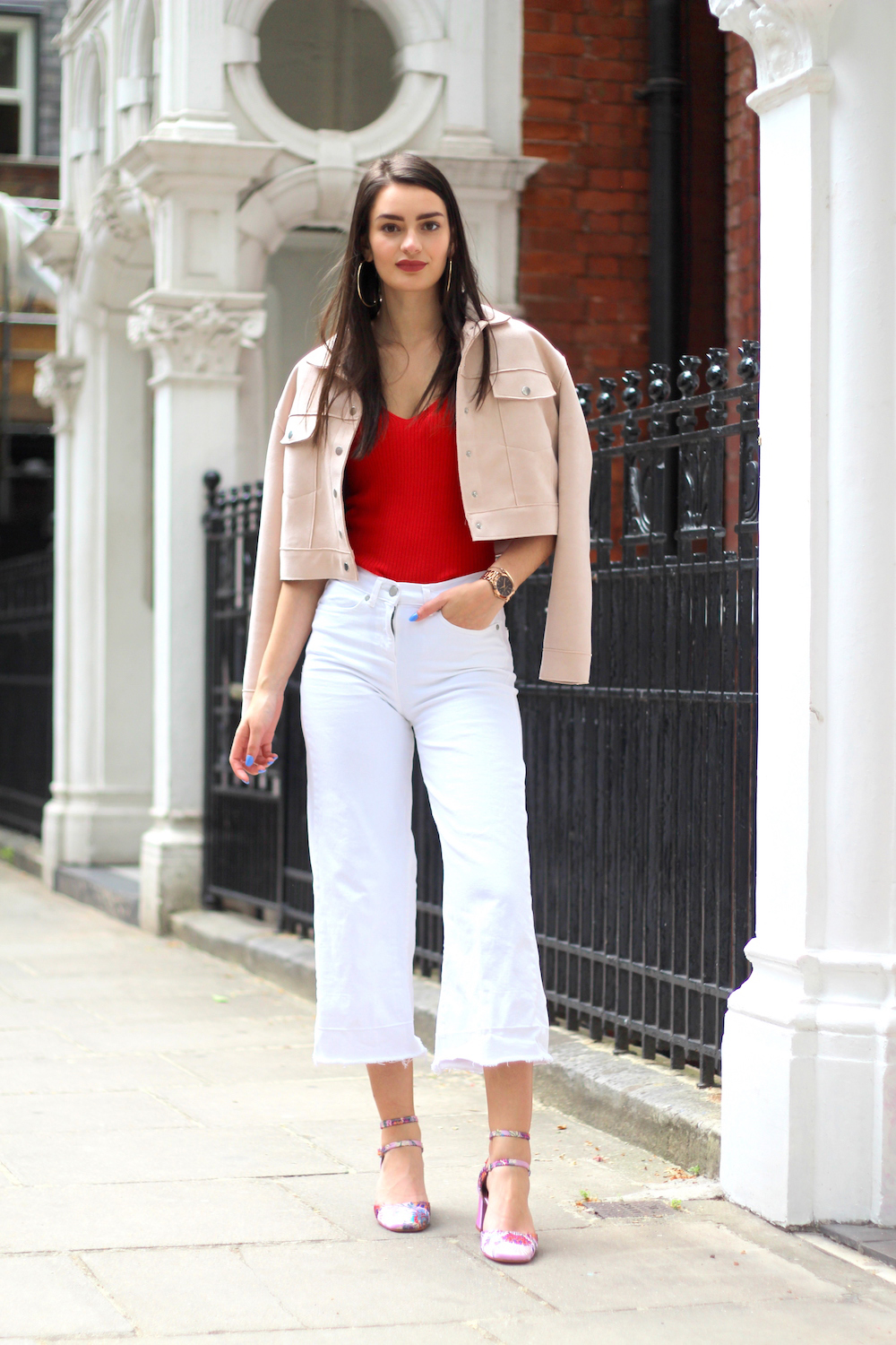 white culottes peexo summer style