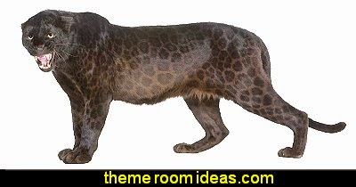 Black Leopard wall decals  wild animal print bedroom decor  - leopard print decorating ideas- giraffe print - zebra print - cheetah bedroom decor - wild animal print decorating  - leopard print decor - leopard print walls -  tiger wall decal