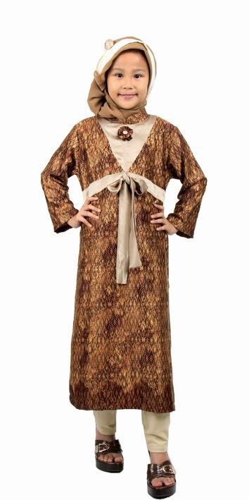 25+ Model Baju Batik Muslim Anak Perempuan Modern Terbaru 2018, Eksklusif