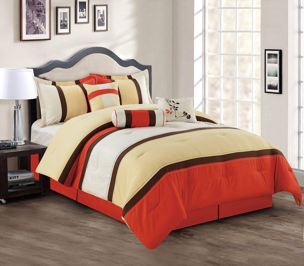 Bright to Burnt Orange and Brown Comforter & Bedding Sets