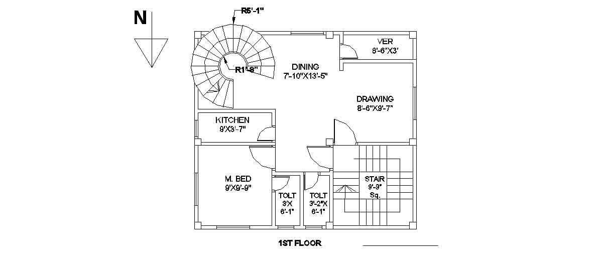 Civil Engineering: Floor Plans of Building 27 ftX24 ft