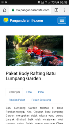 Paket Body Rafting Batu Lumpang Garden