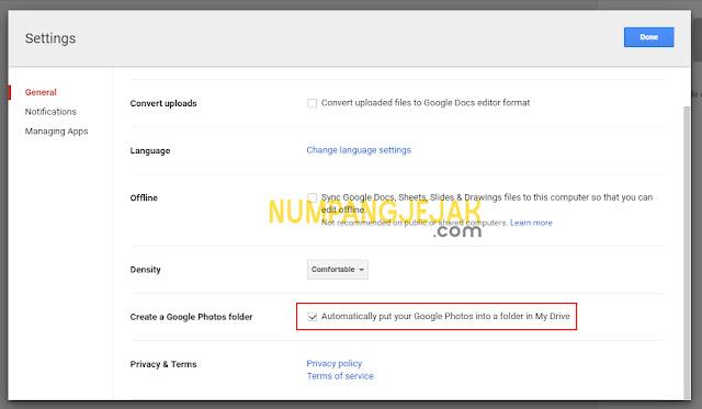 Mengatur Google Drive sebagai media penyimpanan Unlimited gratis untuk Foto dan Video