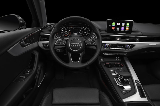 Interior view of 2017 Audi A4 Sedan