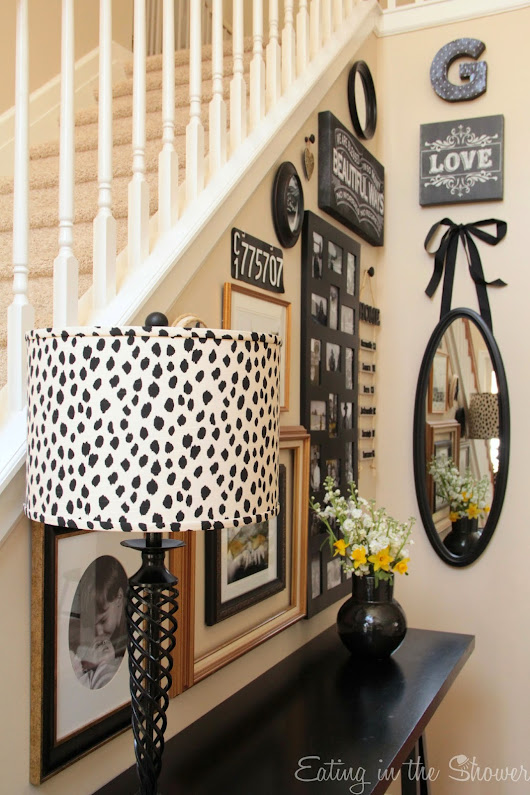Seeing Spots in the Foyer: My New Animal Print Lampshade