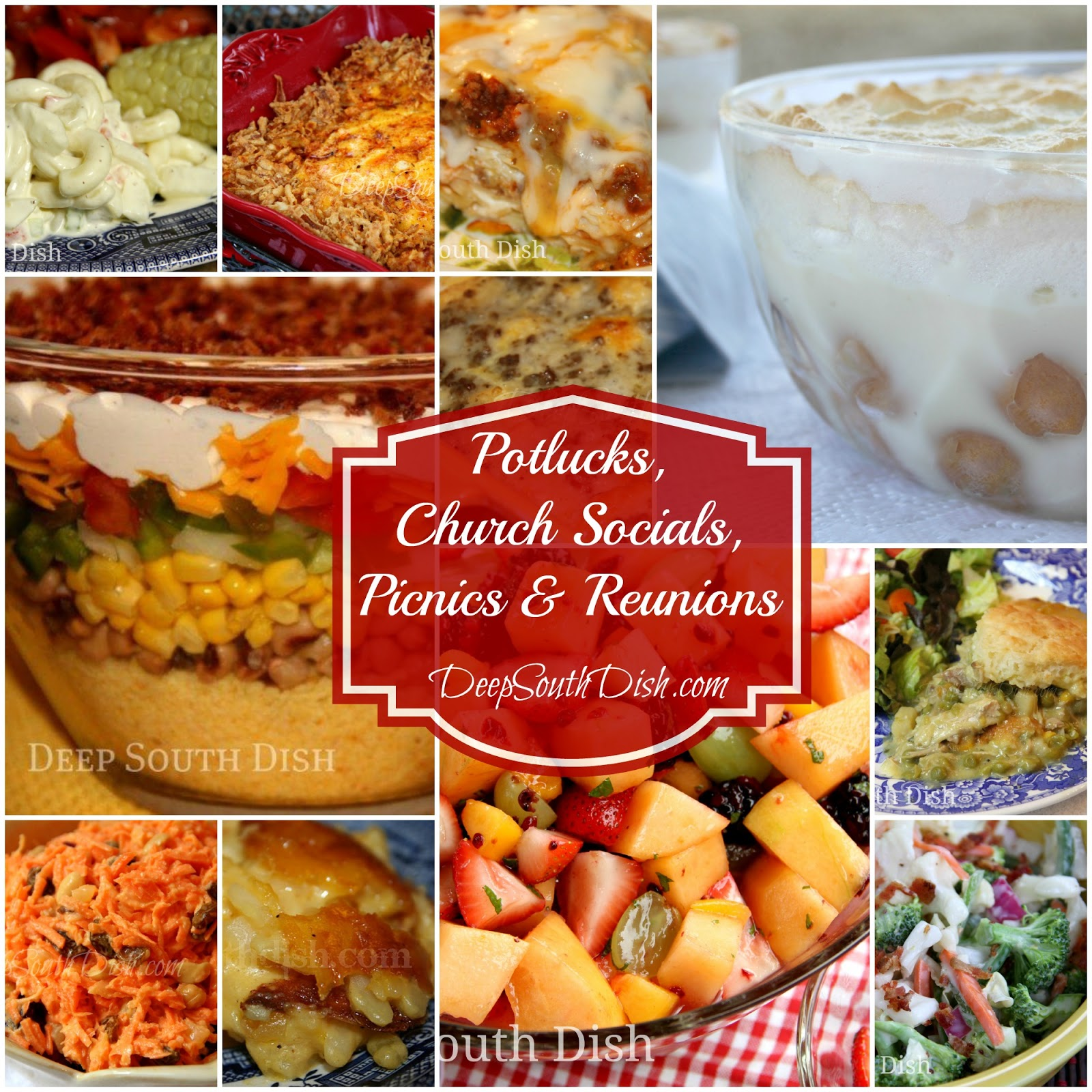 Deep south dish recipes for potlucks church socials picnics from appetizers to main dish dessert and everything in between a wonderful collection of great step by step recipes from deep south dish perfect for your forumfinder Image collections