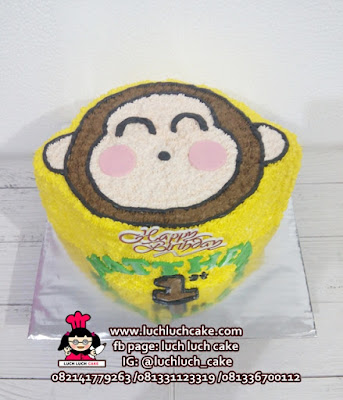 Monkichi Monyet 3d Buttercream Cake