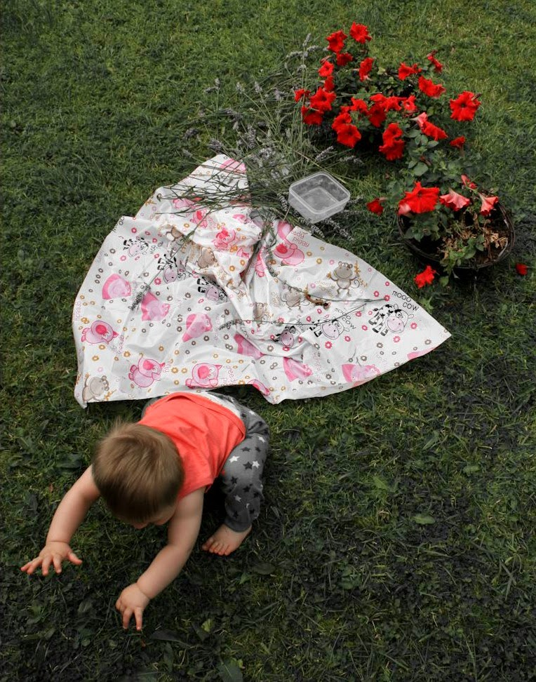 Child-playing-in-garden-flowers
