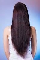 gambar cara memiliki rambut yang lurus halus dan berkilau