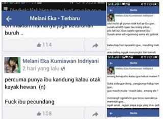 Heboh! Status Anak Durhaka Pada Ibu Kandung Ini Bikin Emosi Netizen
