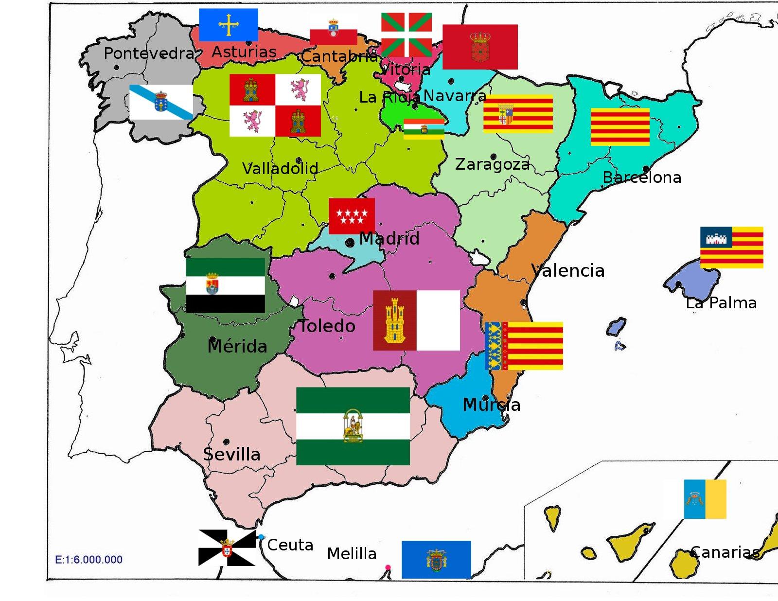 España, mapa político