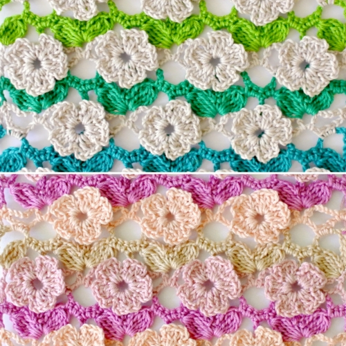 Crochet Flower Stitch - Free Pattern