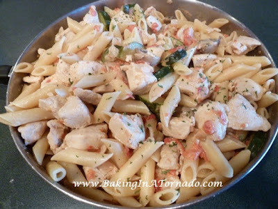 Chicken Pasta in Tomato Cream Sauce | www.BakingInATornado | #recipe