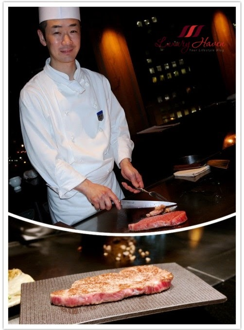 keio plaza teppanyaki yamanami chef kamiya kobe beef