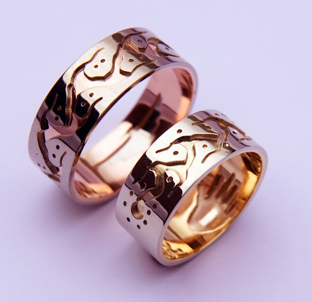 Gegiinawind Omaa! wedding bands designed by ZhaawanArt