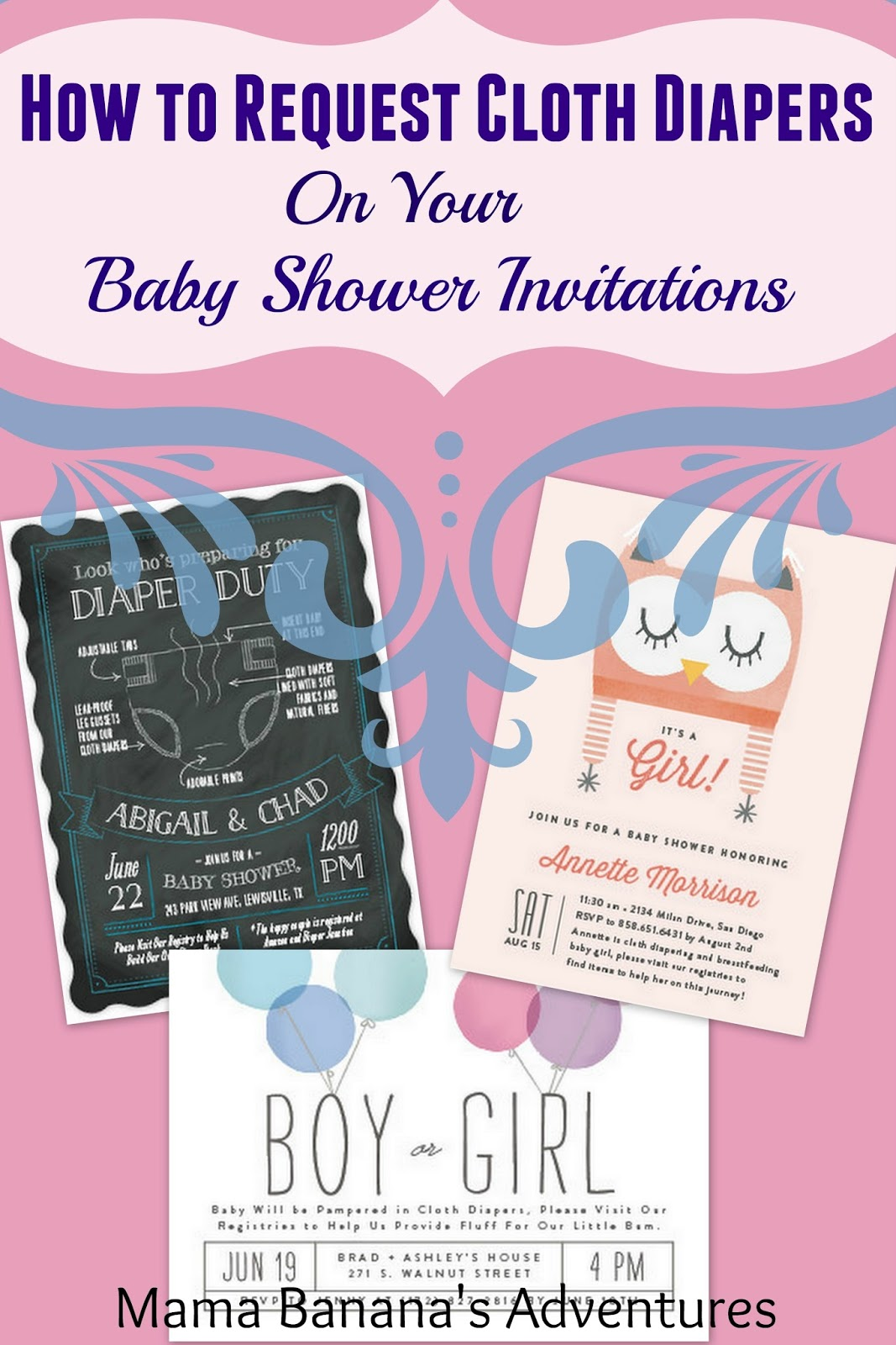 How to Request Cloth Diapers on Your Baby Shower Invitations with
