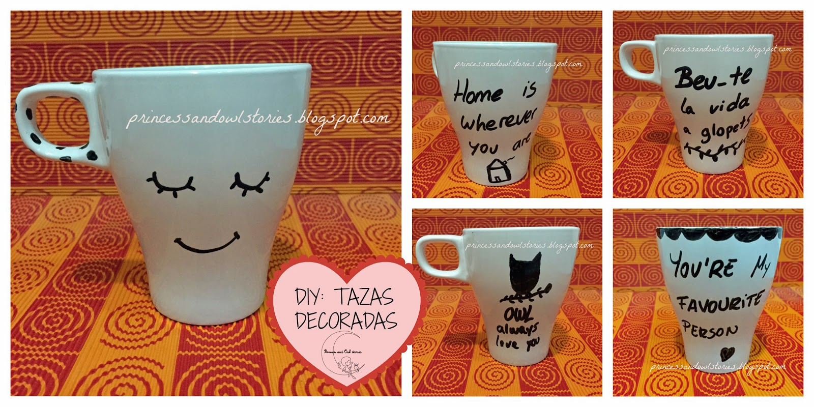 Diy tazas decoradas princess owl stories for Cocinas baratisimas