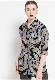 Model Baju Batik Atasan Unik