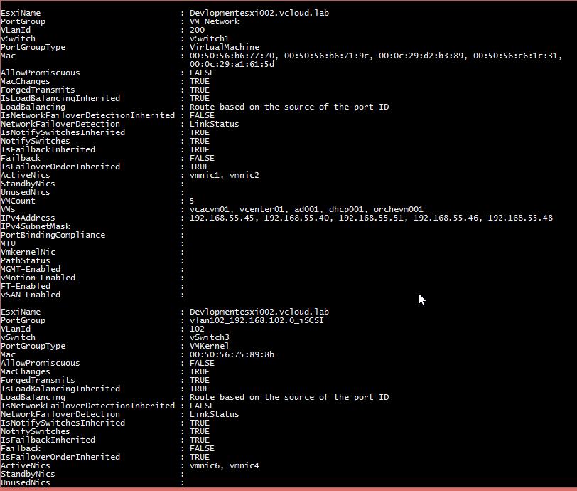 vGeek: Save complete virtual PortGroup information Settings - Powercli