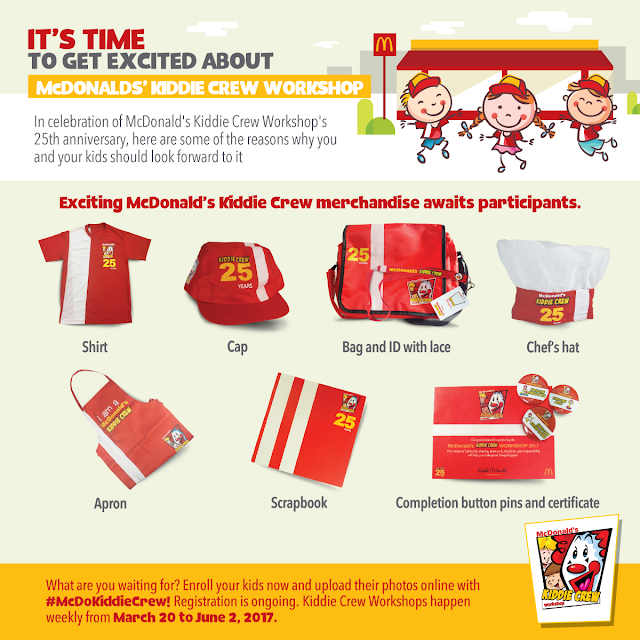 McDonald's Kiddie Crew Workshop Materials