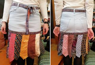 falda de corbatas hecha por Déborah F. Muñoz