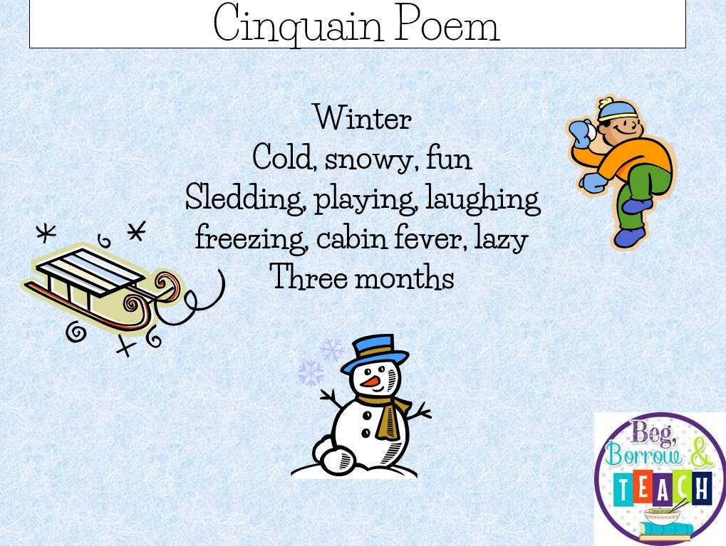 Beg Borrow And Teach Winter Poetry And A Freebie
