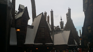 hogsmead, frozen town, cold town, snowed