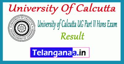 University Of Calcutta UG BA B.Sc B.Com  Part II Hons Exam 2019 Result