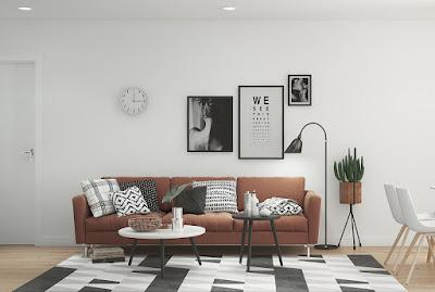 Desain Sofa Warna Cokelat Untuk Ruang Tamu