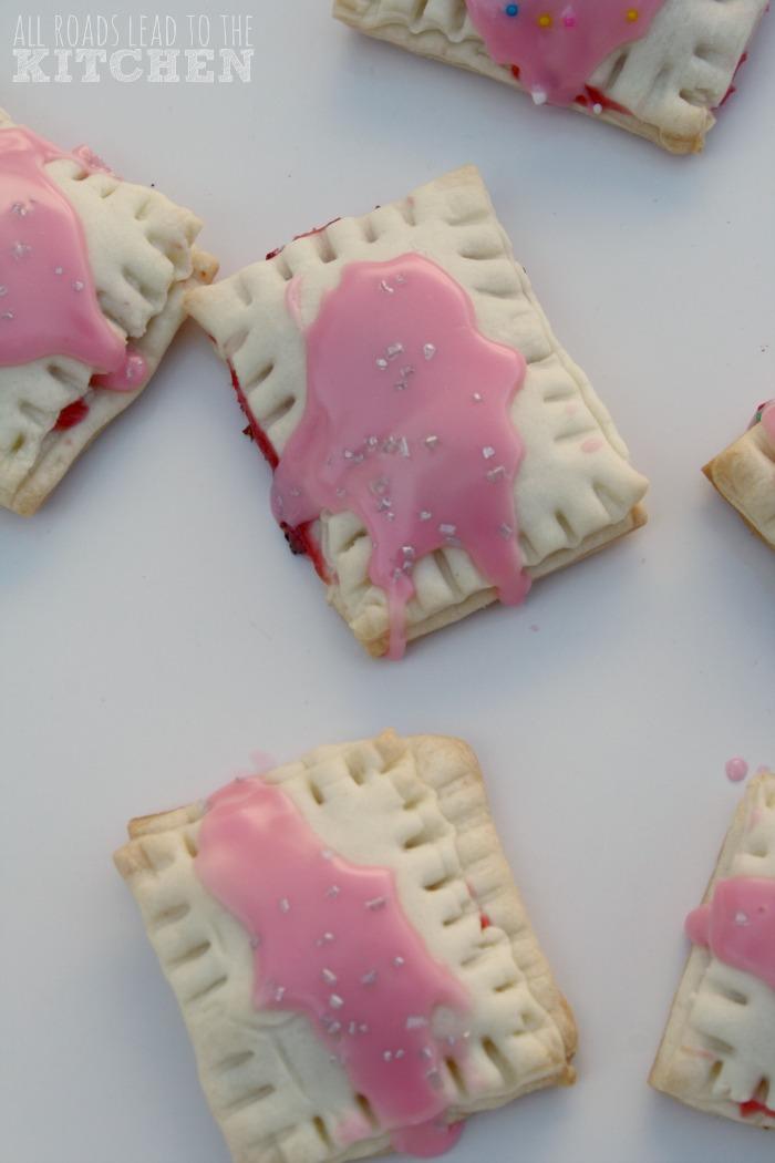 Bite-Size Cherry and Strawberry Pop Tarts