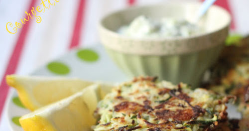'Courgetti' Fritters with Lemon and Feta - Watch them vanish!