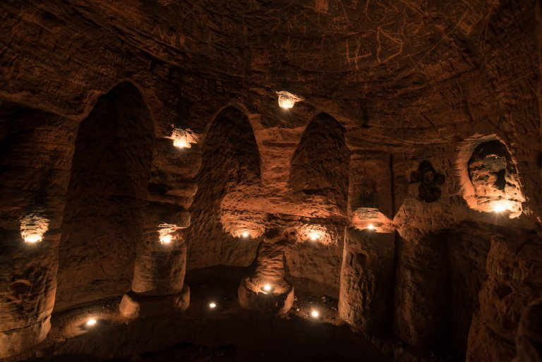 It Looks Like An Ordinary Rabbit Hole, But It Leads To 700-Year-Old Secret Knights Templar Cave Network