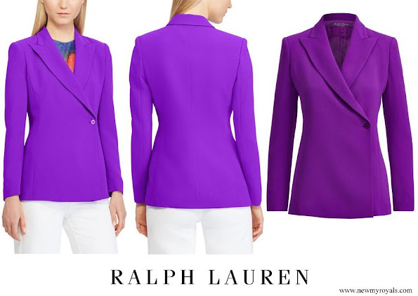 Princess Stephanie wore Ralph Lauren Purple Belinda Side button Blazer