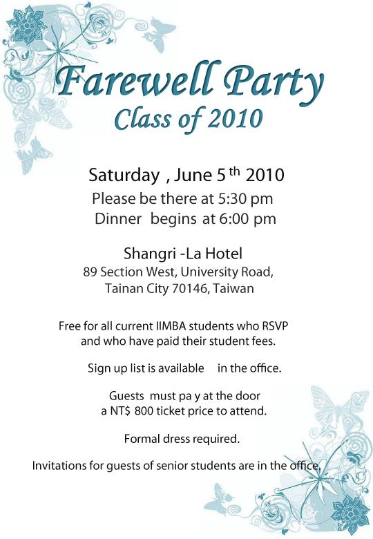 Graduation Party Contoh