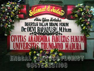 bunga papan dari civitas akademika fakultas hukum universitas trunojoyo madura