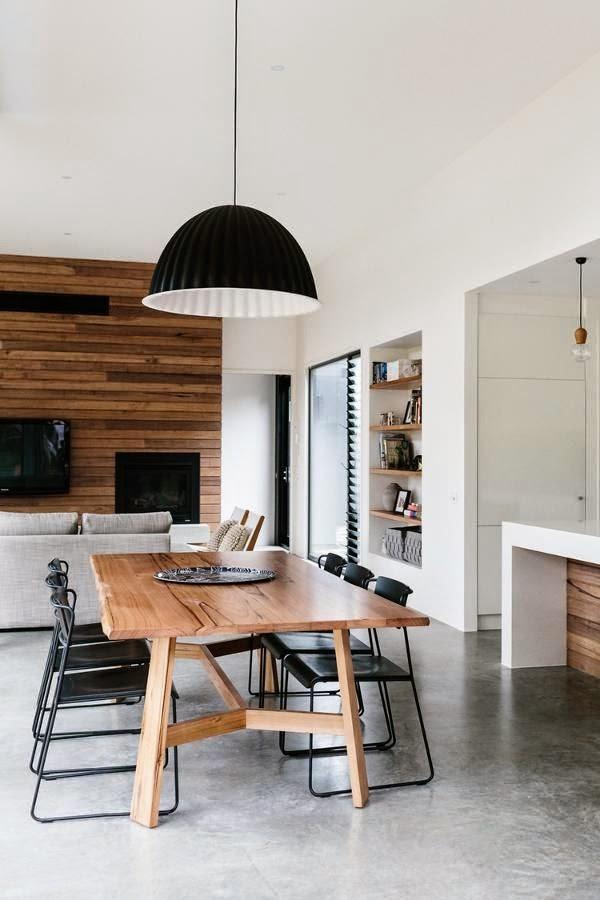 sala de jantar mesa em madeira