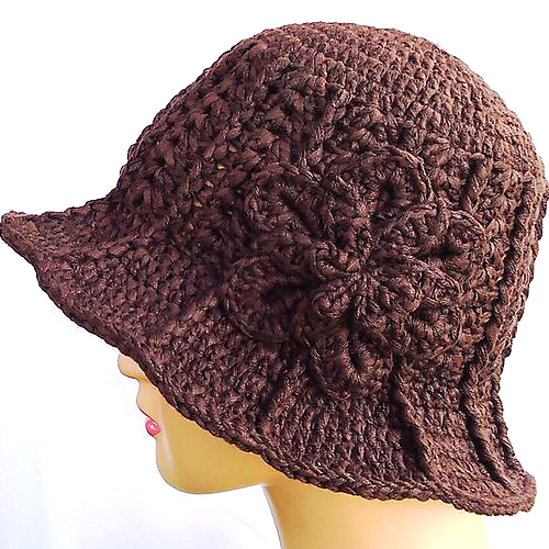 Ridge Hat with Brim - Free Pattern