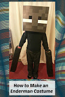 Enderman Costume with title overlaid