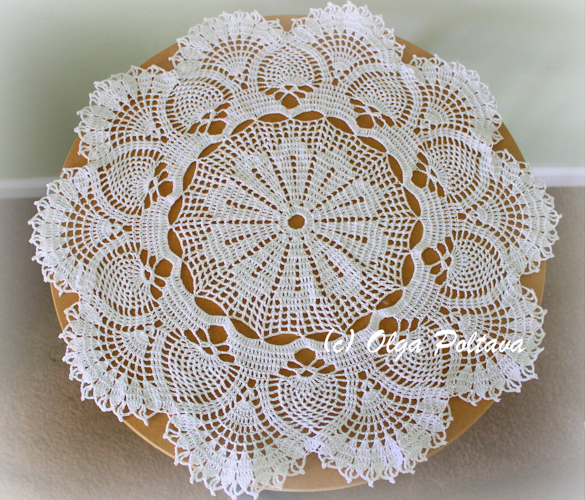 Pineapples And Fans Doily Table Topper My New Crochet Pattern The Holidays