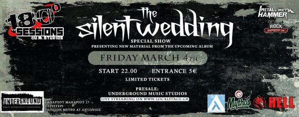 THE SILENT WEDDING: Παρασκευή 4 Μαρτίου @ Underground Music Studios
