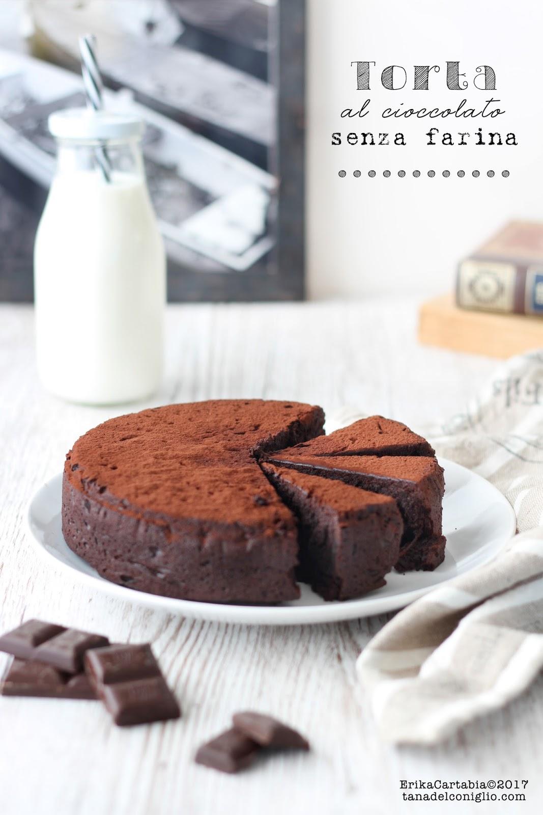 Dolci Senza Farina E Uova.Torta Al Cioccolato Senza Farina La Tana Del Coniglio
