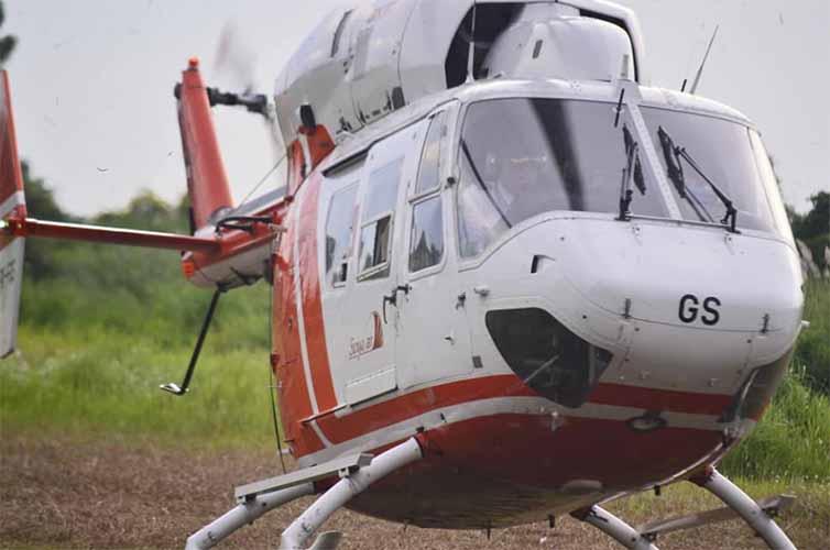 helikopter Prabowo di i love GKB Gresik