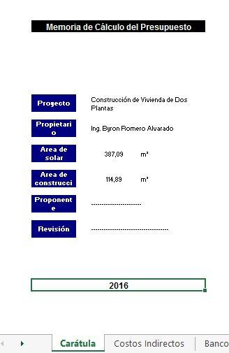 Plantilla excel . Análisis de precios Unitarios. ~ INGENIERÍA CIVIL ...
