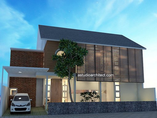 Desain Rumah Minimalis Lebar 5 Meter  a rumah dengan muka lebar lahan 16 x 11 m desain siap