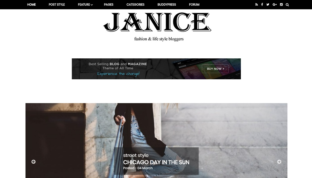 Janice - Responsive Blogger Template