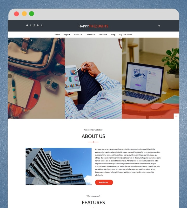 Happy Thoughts (Premium Business Wordpress Theme)