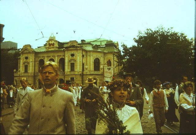 1990 год. Рига. Dziesmu un Deju svētki (фото из архива: Aivars Narvaišs)