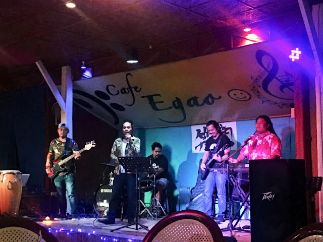 Restaurants in Cebu. Cafe Egao is one of the restaurants in Talamban Cebu With Live Band. The La Gare Band were playing Reggae music the night we went there.